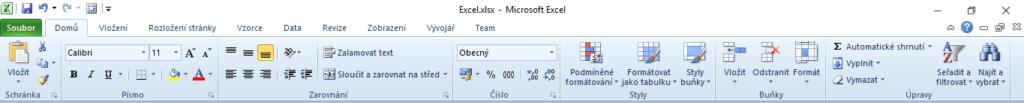 Excel - Pás karet (Ribbon)
